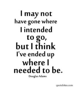 i am where i am